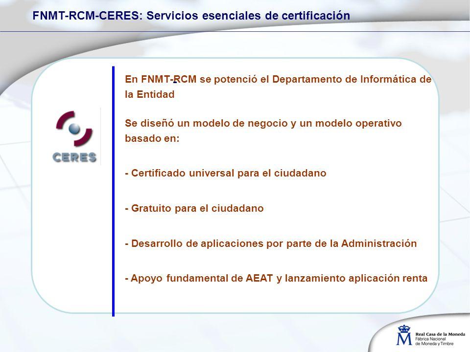 FNMT-RCM-CERES: Servicios esenciales de certificación