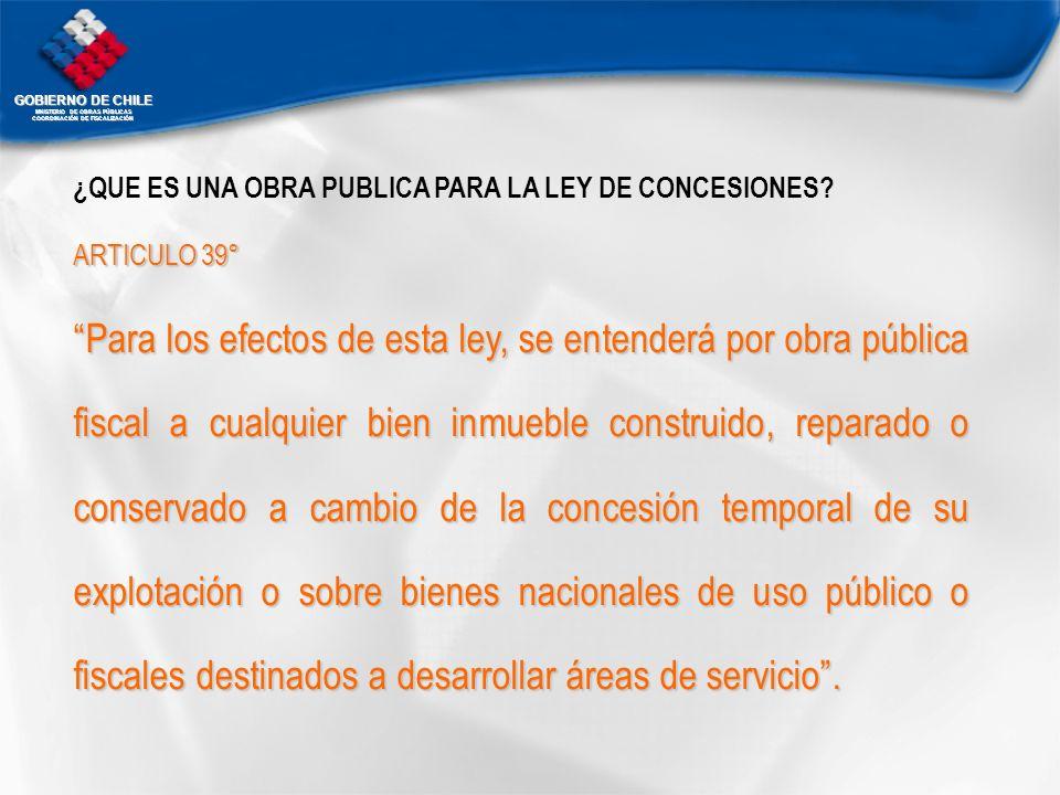 ¿QUE ES UNA OBRA PUBLICA PARA LA LEY DE CONCESIONES