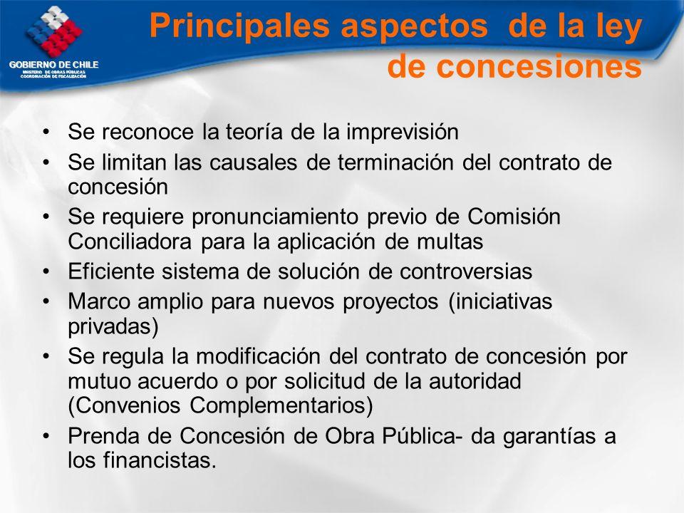 Principales aspectos de la ley de concesiones