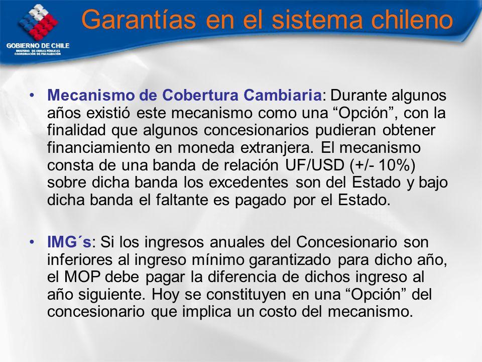 Garantías en el sistema chileno