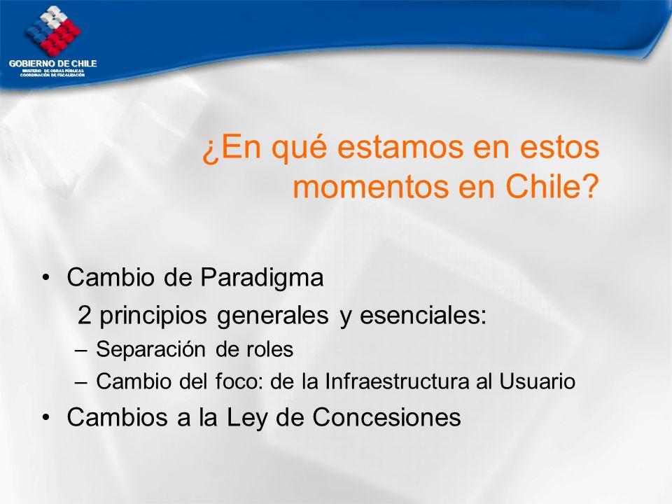 ¿En qué estamos en estos momentos en Chile