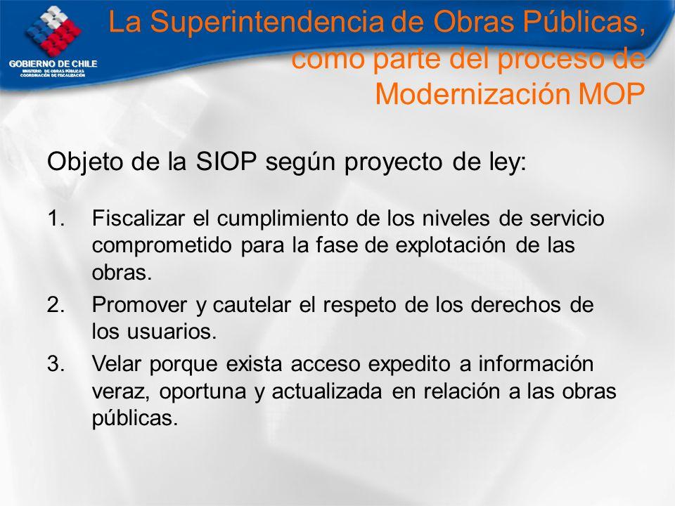 La Superintendencia de Obras Públicas, como parte del proceso de Modernización MOP