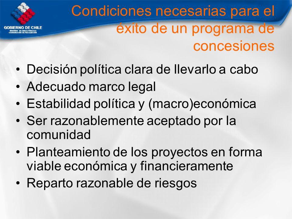 Condiciones necesarias para el éxito de un programa de concesiones