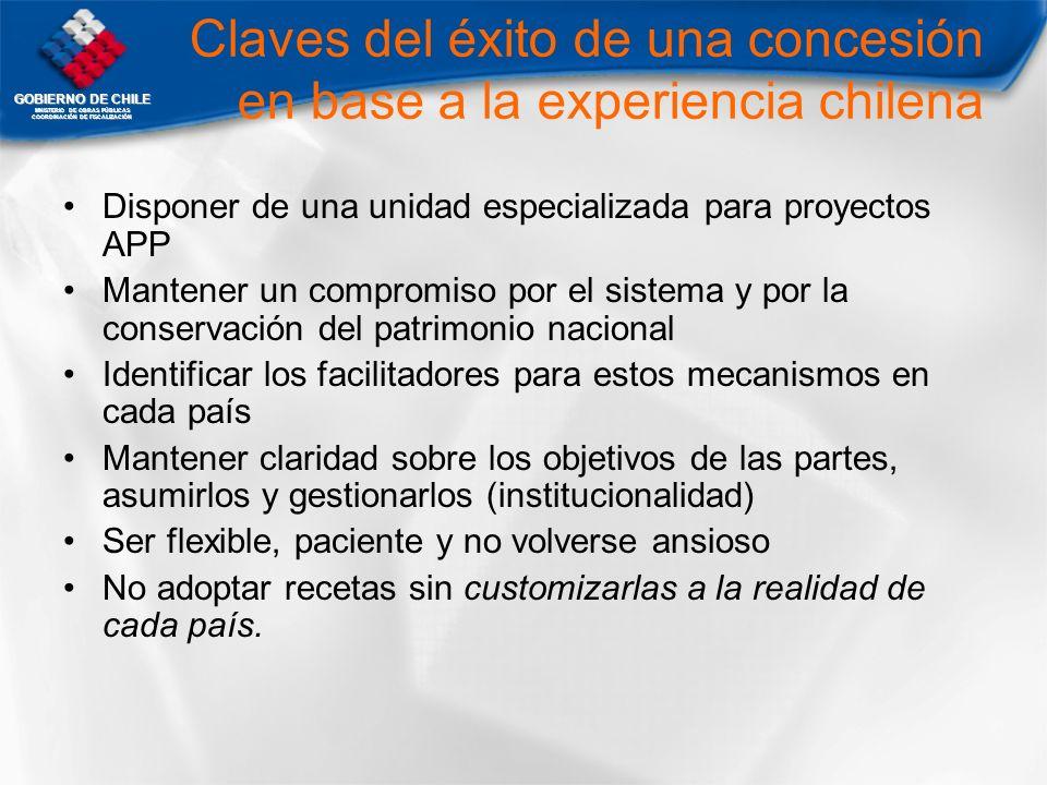 Claves del éxito de una concesión en base a la experiencia chilena
