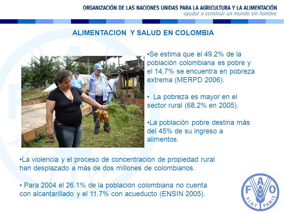ALIMENTACION Y SALUD EN COLOMBIA