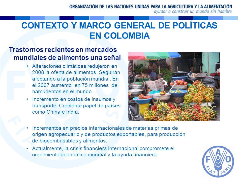 CONTEXTO Y MARCO GENERAL DE POLÍTICAS EN COLOMBIA