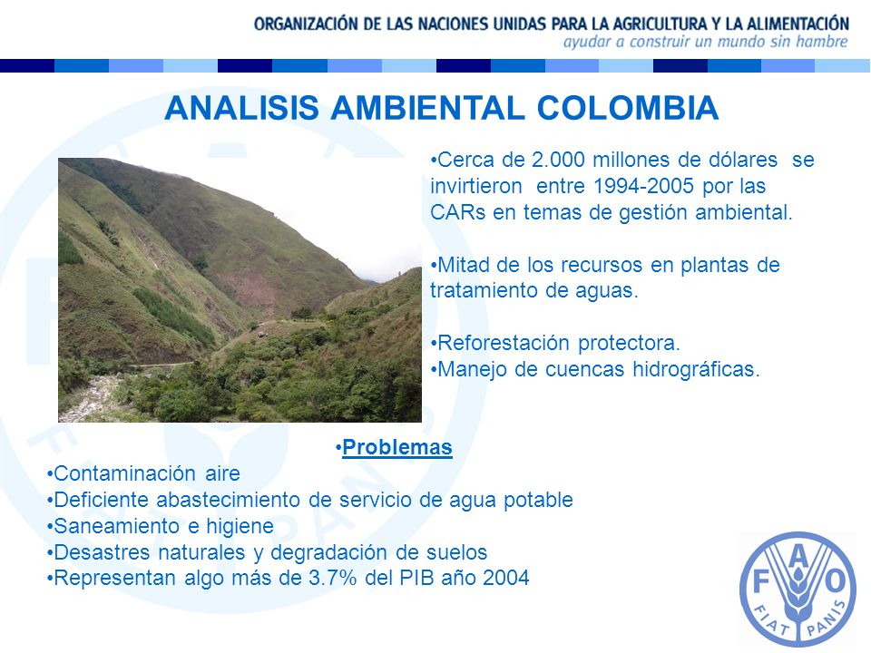 ANALISIS AMBIENTAL COLOMBIA