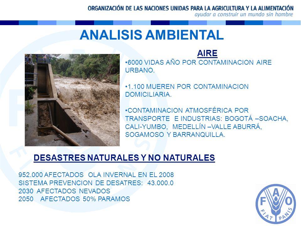 DESASTRES NATURALES Y NO NATURALES