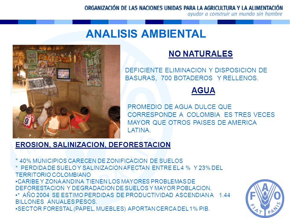 ANALISIS AMBIENTAL NO NATURALES AGUA