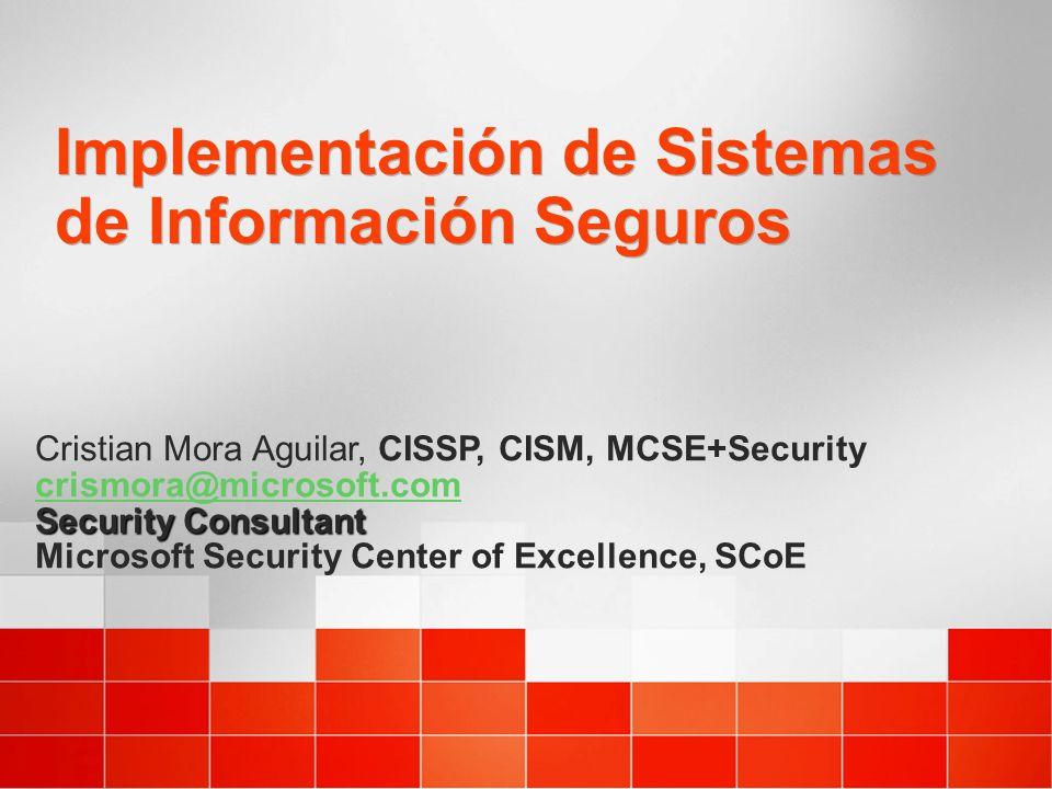 Implementación de Sistemas de Información Seguros
