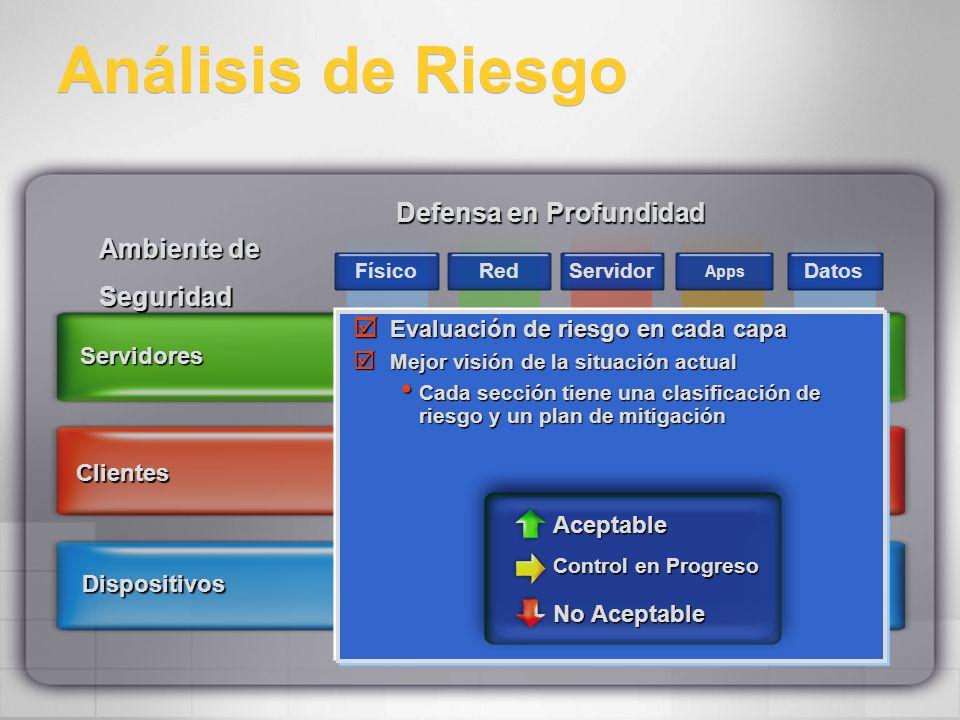 Análisis de Riesgo Defensa en Profundidad Ambiente de Seguridad