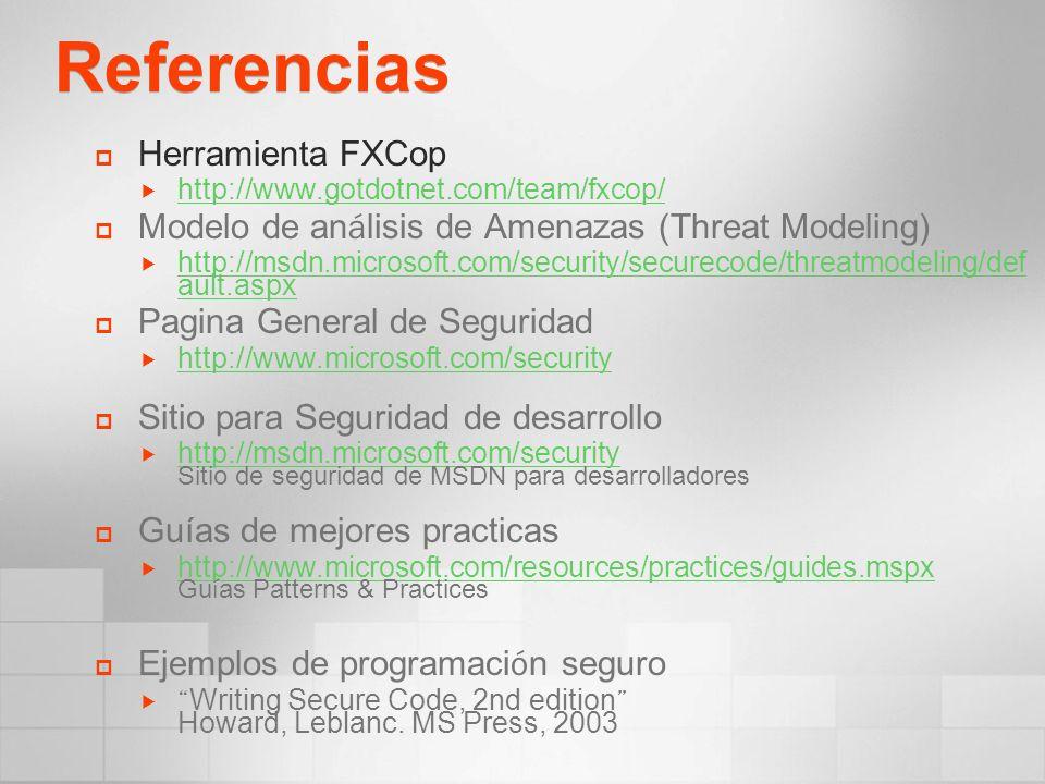 Referencias Herramienta FXCop