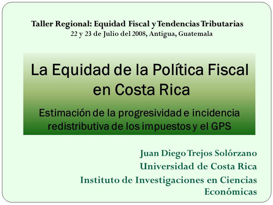 Taller Regional: Equidad Fiscal y Tendencias Tributarias 22 y 23 de Julio del 2008, Antigua, Guatemala
