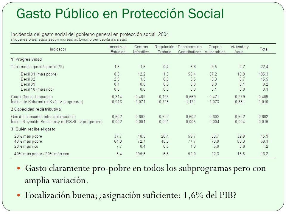 Gasto Público en Protección Social