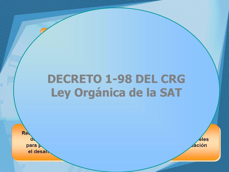 DECRETO 1-98 DEL CRG Ley Orgánica de la SAT