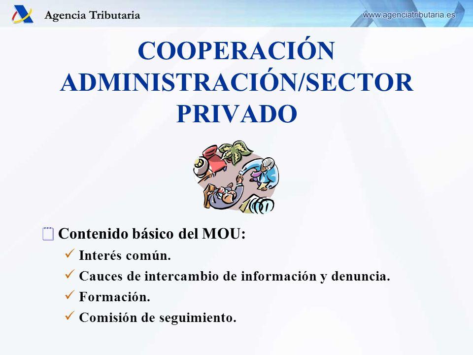COOPERACIÓN ADMINISTRACIÓN/SECTOR PRIVADO