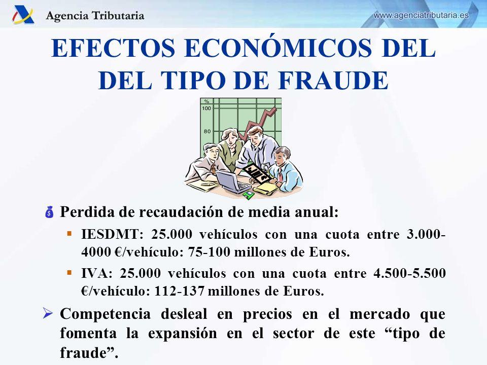 EFECTOS ECONÓMICOS DEL DEL TIPO DE FRAUDE