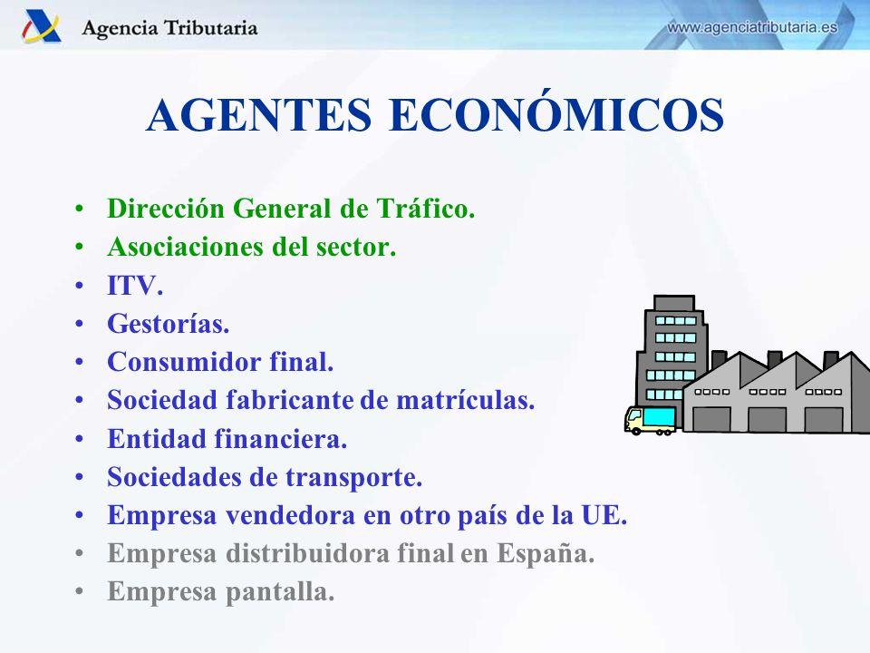 AGENTES ECONÓMICOS Dirección General de Tráfico.