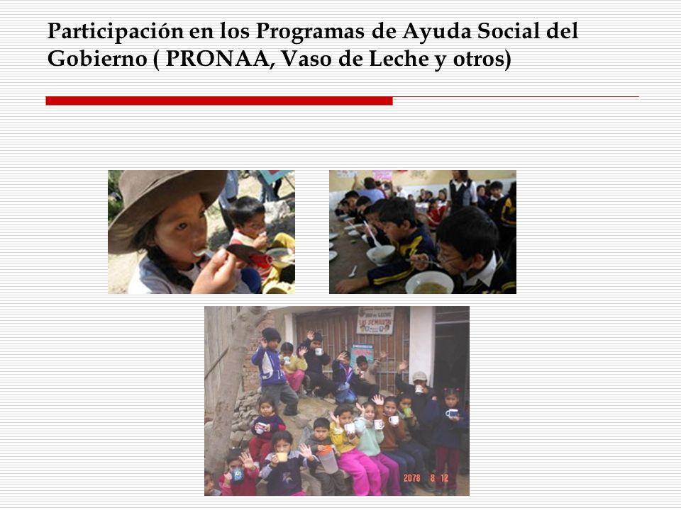 Participación en los Programas de Ayuda Social del
