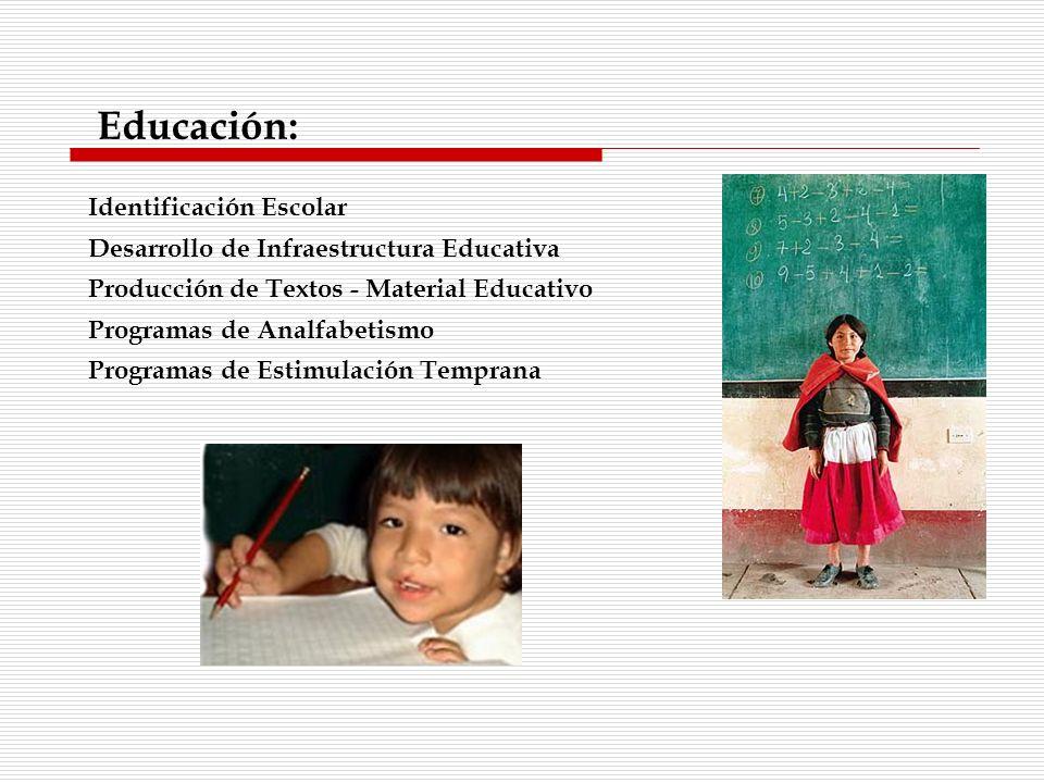 Educación: Identificación Escolar