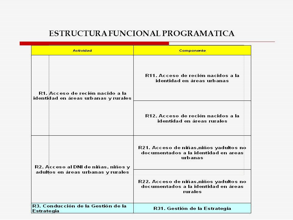 ESTRUCTURA FUNCIONAL PROGRAMATICA