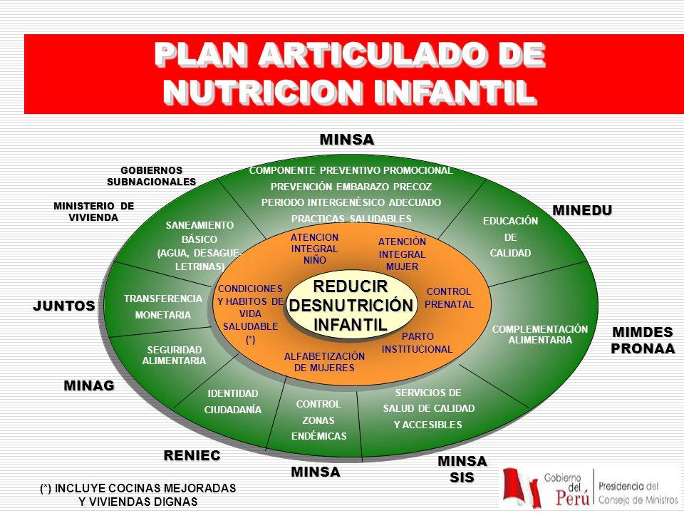 PLAN ARTICULADO DE NUTRICION INFANTIL