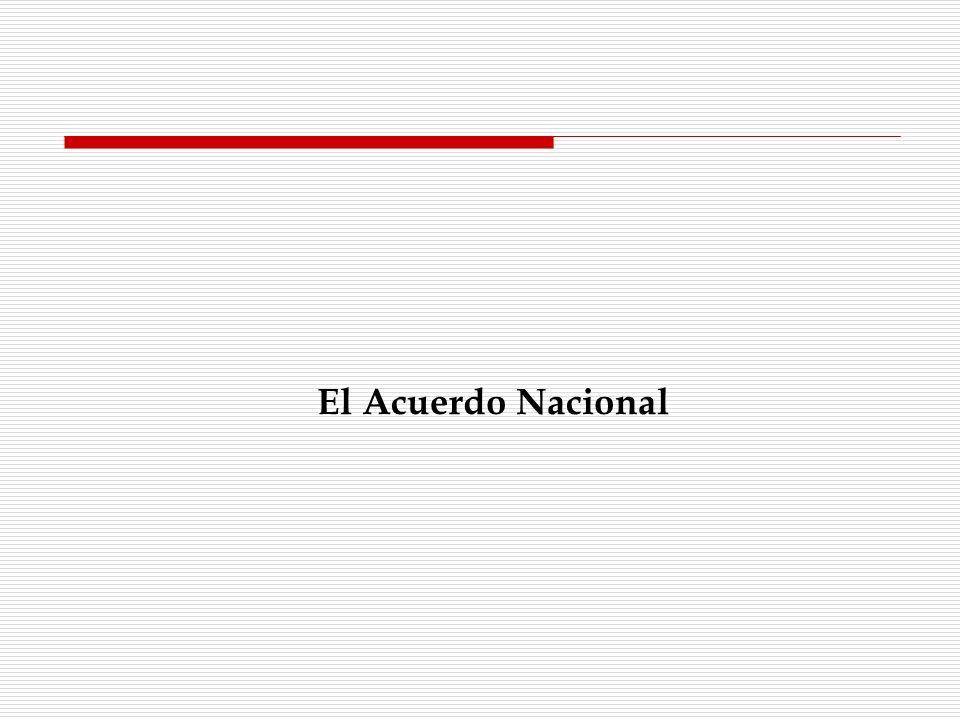 El Acuerdo Nacional