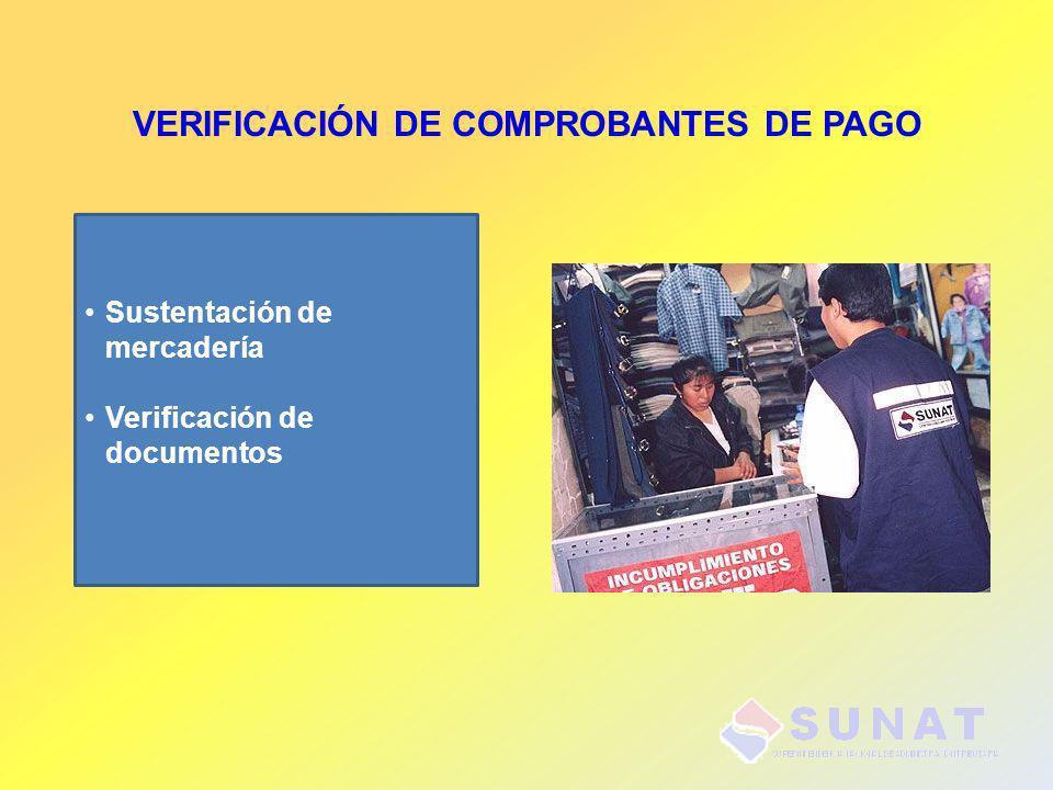 VERIFICACIÓN DE COMPROBANTES DE PAGO