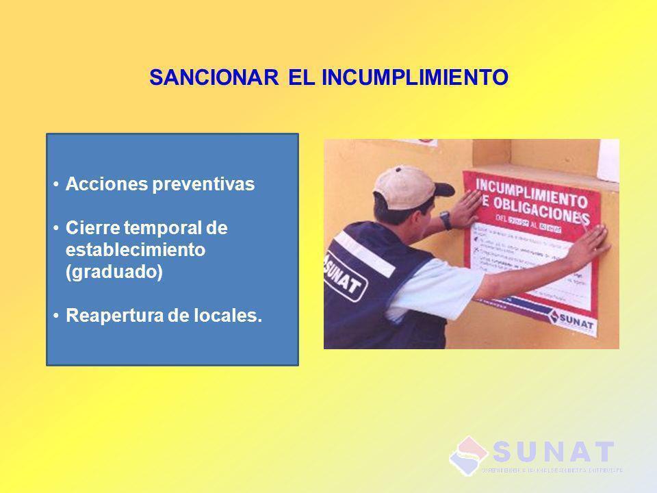 SANCIONAR EL INCUMPLIMIENTO