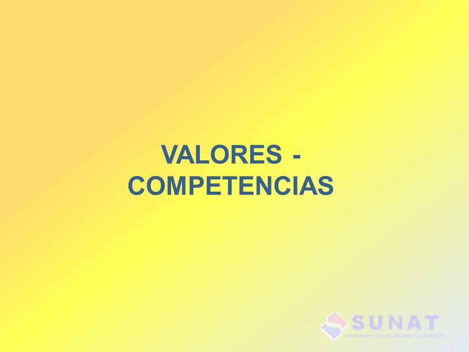 VALORES - COMPETENCIAS