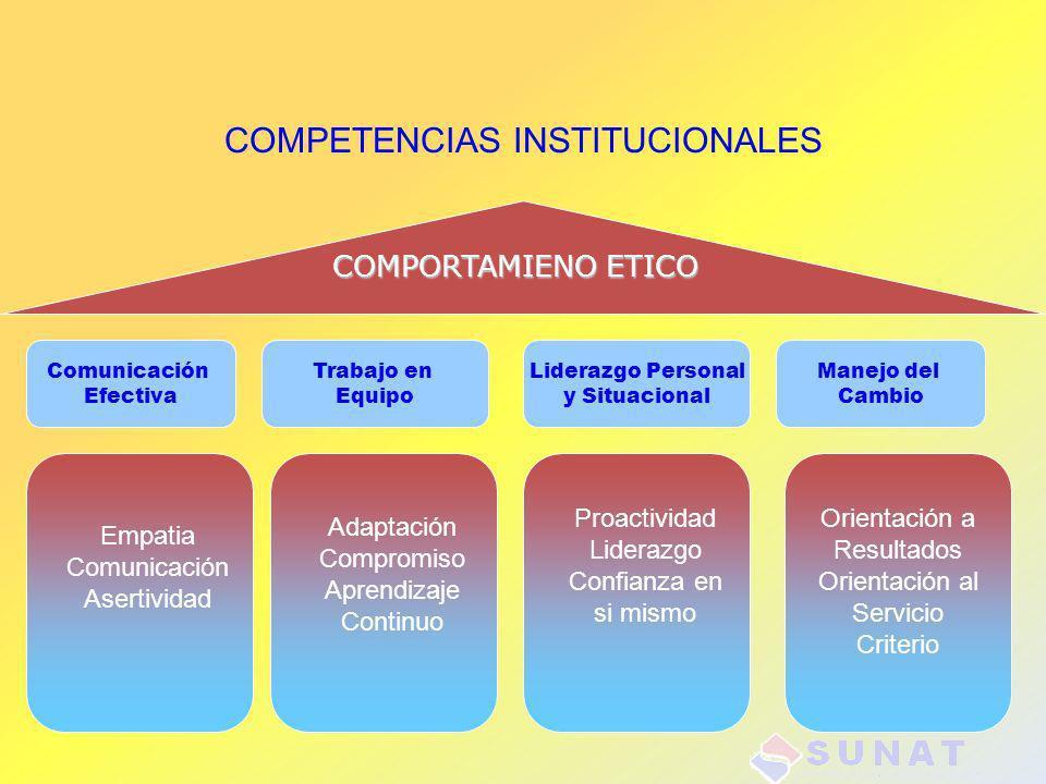 COMPETENCIAS INSTITUCIONALES