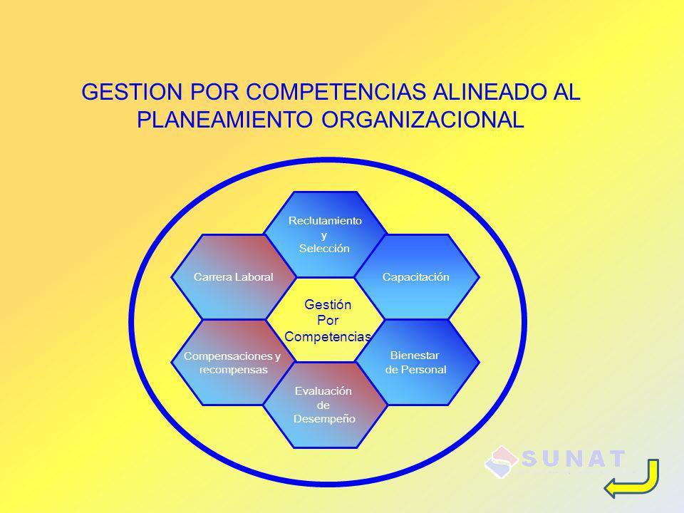 GESTION POR COMPETENCIAS ALINEADO AL PLANEAMIENTO ORGANIZACIONAL