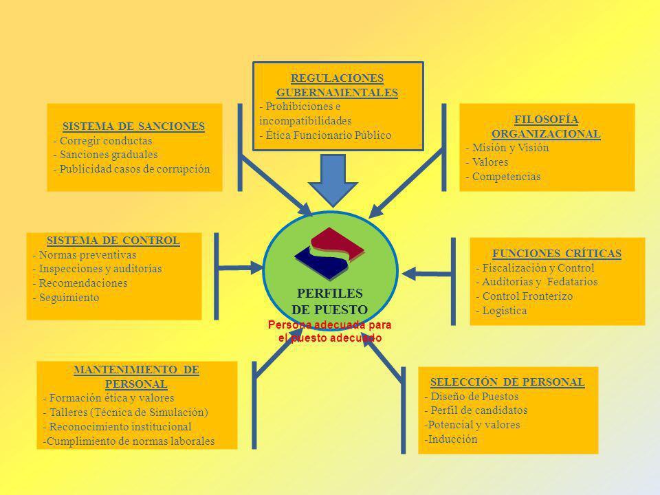 PERFILES DE PUESTO REGULACIONES GUBERNAMENTALES
