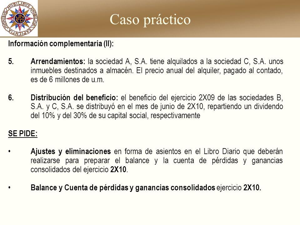 Caso práctico Información complementaria (II):