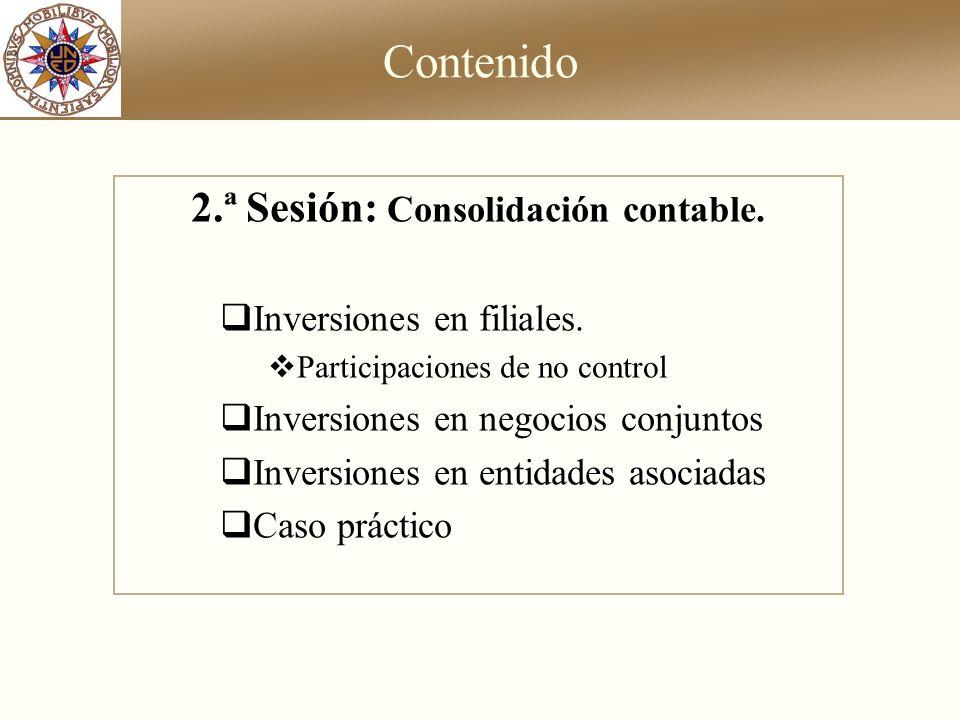 2.ª Sesión: Consolidación contable.