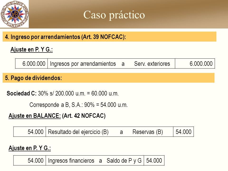 Caso práctico 4. Ingreso por arrendamientos (Art. 39 NOFCAC):