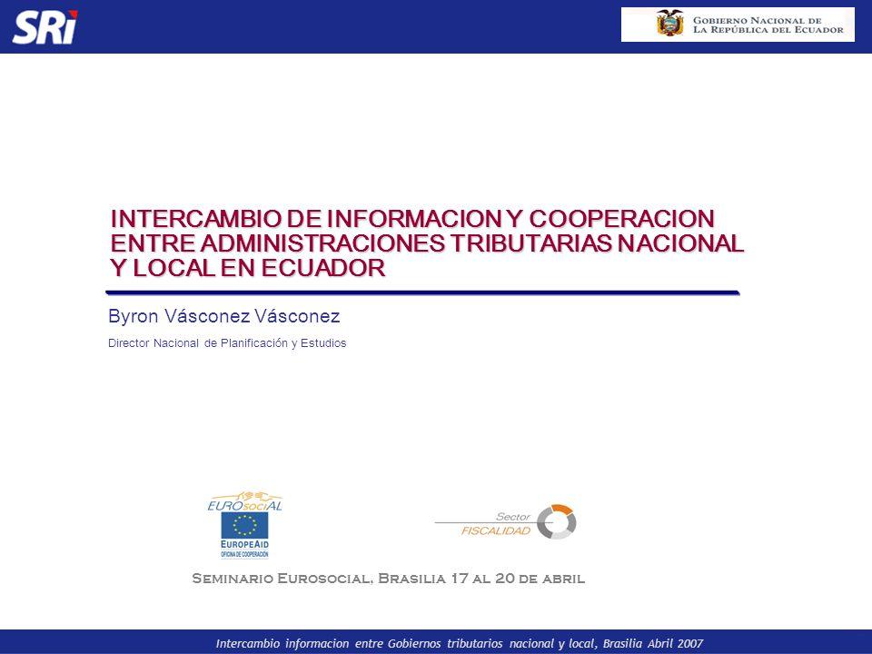 Seminario Eurosocial, Brasilia 17 al 20 de abril