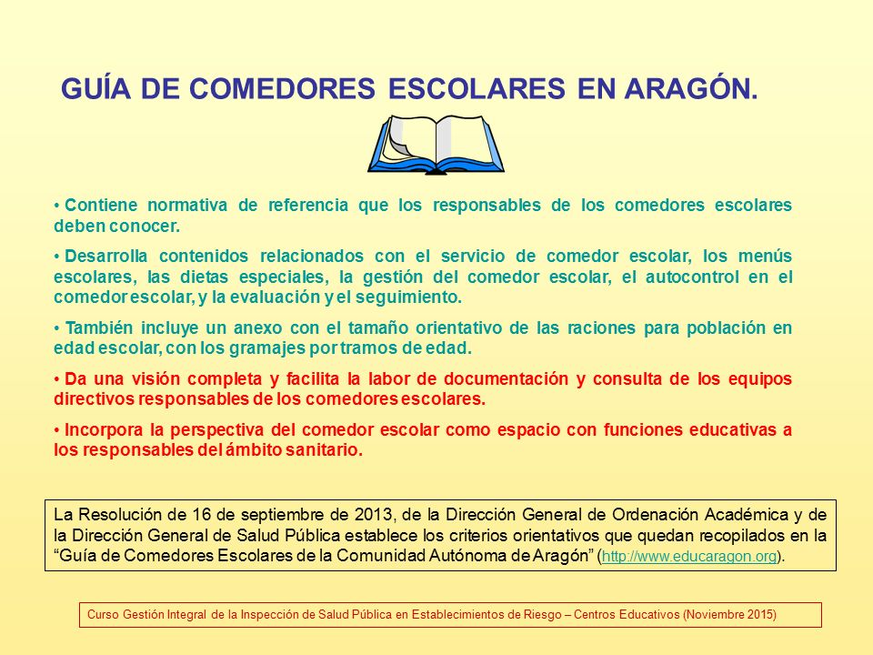 Centros educativos servicio complementario de comedor for Requisitos para abrir un comedor comunitario