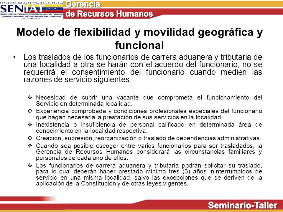Modelo de flexibilidad y movilidad geográfica y funcional