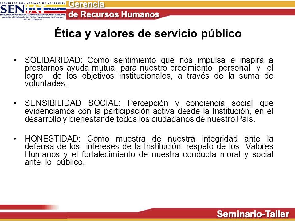 Ética y valores de servicio público