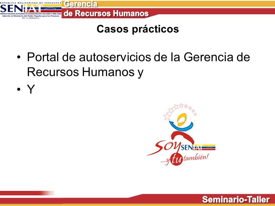 Portal de autoservicios de la Gerencia de Recursos Humanos y Y