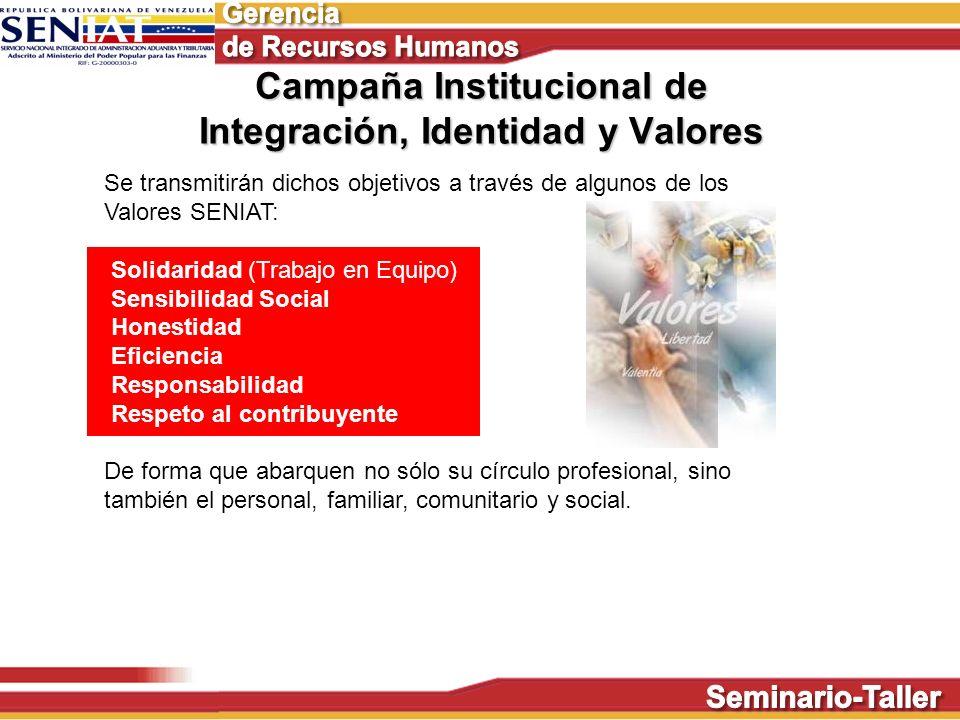 Campaña Institucional de Integración, Identidad y Valores