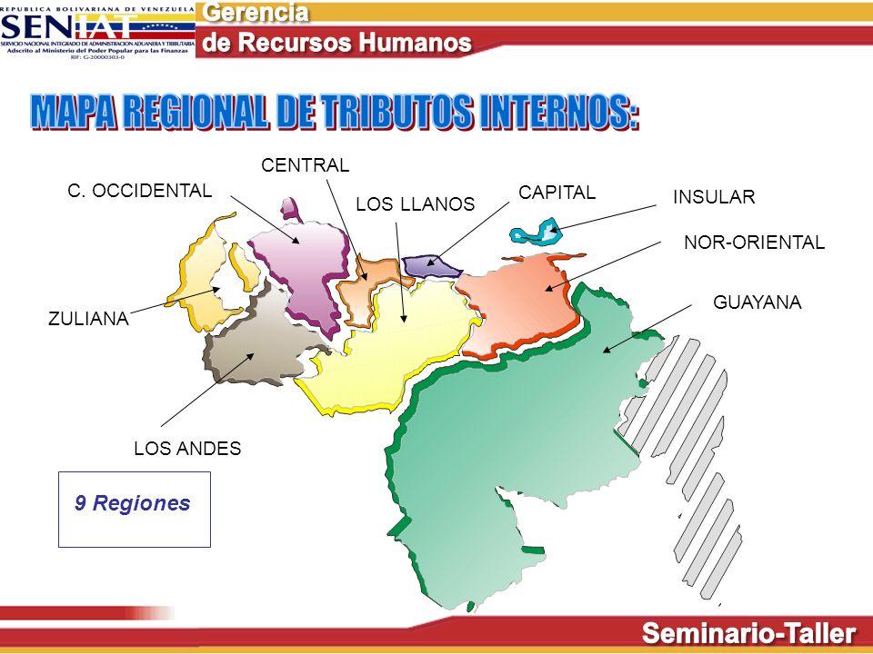 MAPA REGIONAL DE TRIBUTOS INTERNOS: