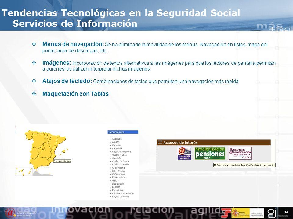Tendencias Tecnológicas en la Seguridad Social Servicios de Información