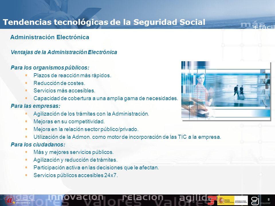 Tendencias tecnológicas de la Seguridad Social