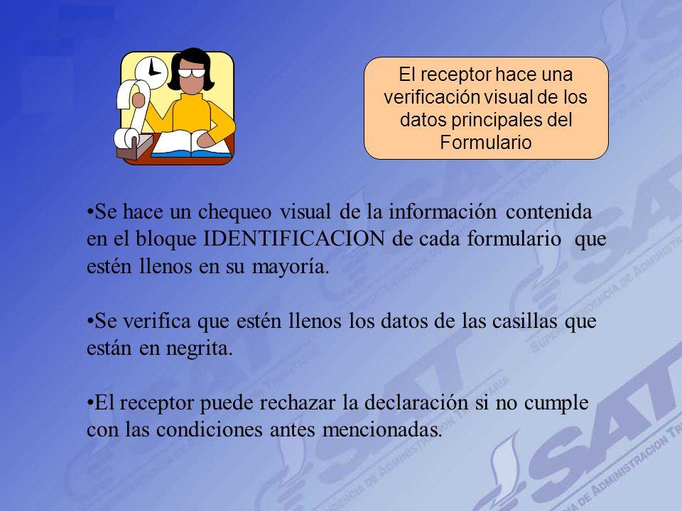 verificación visual de los