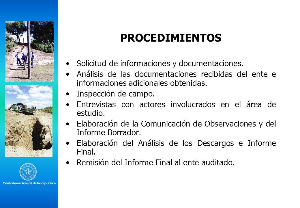PROCEDIMIENTOS Solicitud de informaciones y documentaciones.