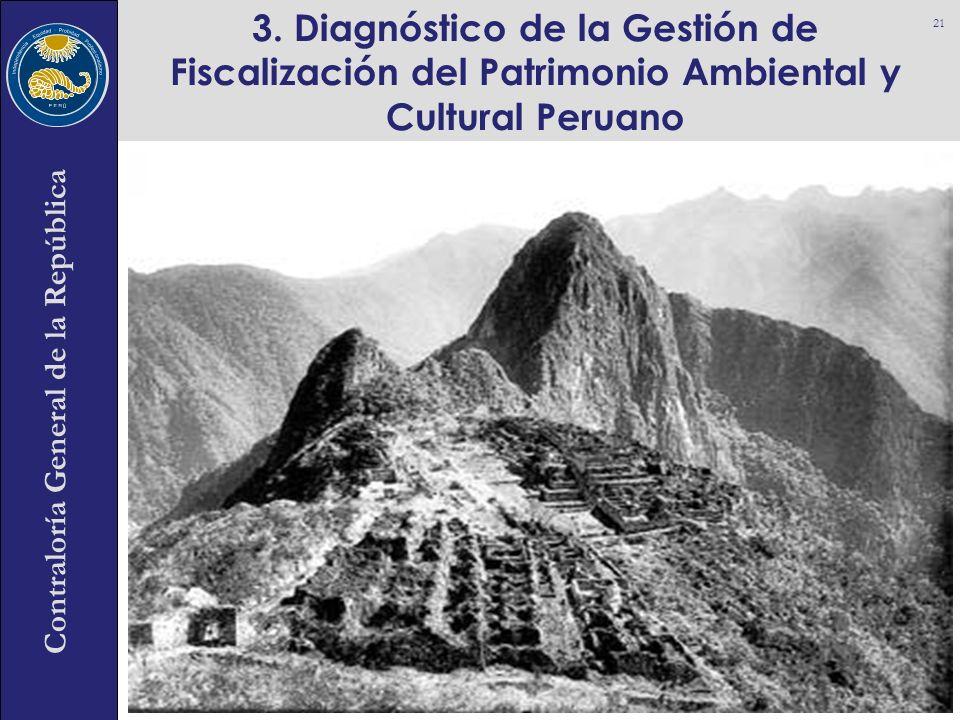 3. Diagnóstico de la Gestión de Fiscalización del Patrimonio Ambiental y Cultural Peruano