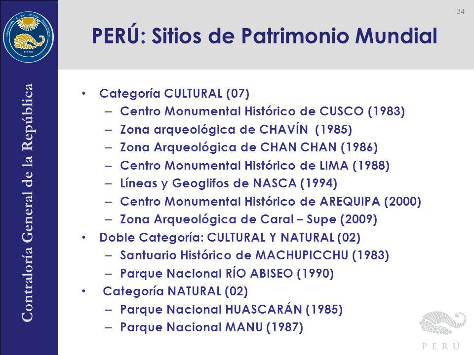 PERÚ: Sitios de Patrimonio Mundial