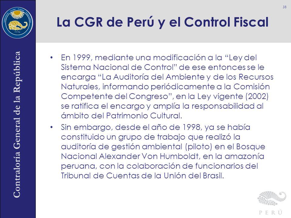 La CGR de Perú y el Control Fiscal